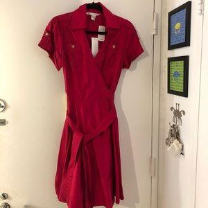 Diane Von Furstenberg wrap dress.